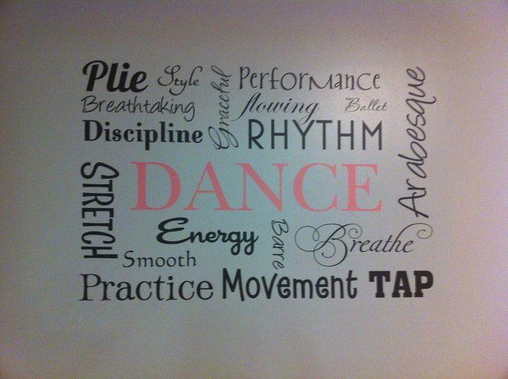 Love this dance studio wall idea!! #wallideas #walldecor #gallerywall