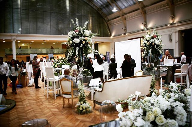 Fabulous bridal exhibition this weekend with @brideluxofficial who bought the sunshine into Lindley Hall showing off the worlds best destination wedding options #wedding #bridelux #exhibitionvenue #floral #weddingvenue