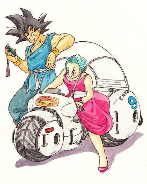 悟空とブルマ Goku and Bulma