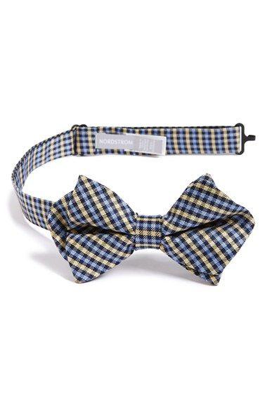 Nordstrom Micro Plaid Silk Bow Tie (Big Boys) | Nordstrom