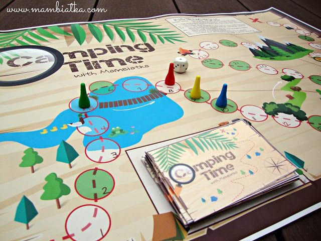 Mambiatka | English for kids | Resources for teachers and parents: Camping Time: Printable Board Game