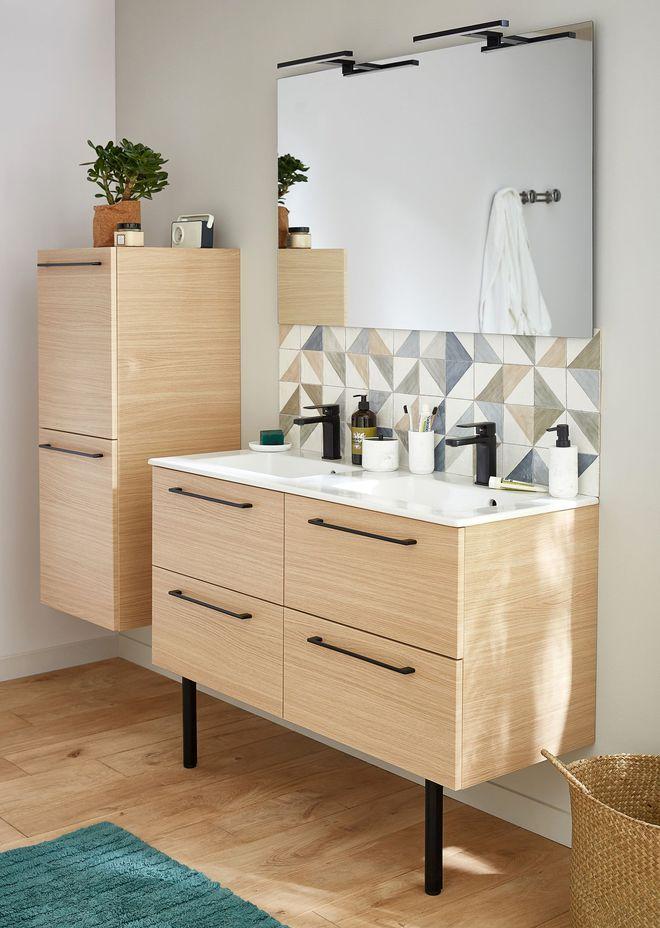 meuble salle de bain bois meuble de