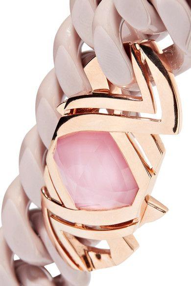 Stephen Webster - Forget Me Knot 18-karat Rose Gold, Ceramic And Opal Bracelet - Pink - one size