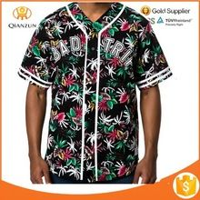 Apparel OEM service Men Printing your design Trip Floral Baseball Jersey  best buy follow this link http://shopingayo.space