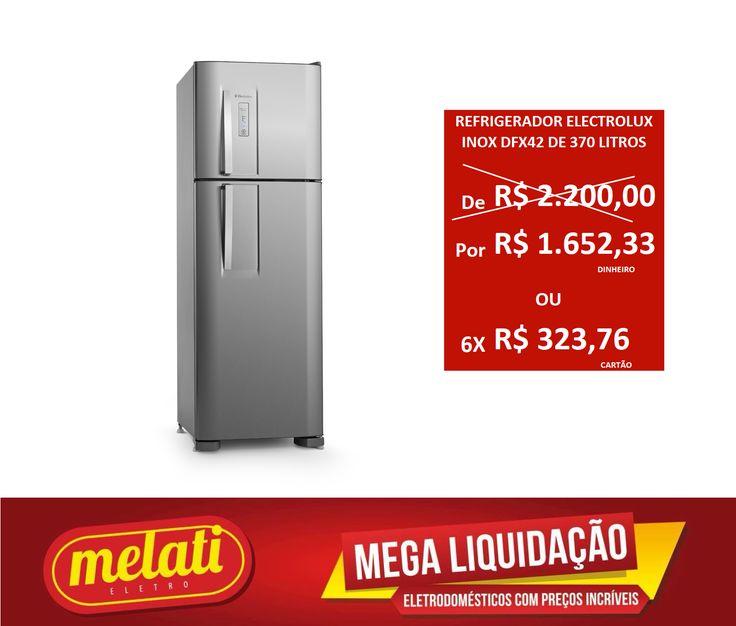 SALDÃO REFRIGERADOR ELECTROLUX INOX DFX42 DE 370 LITROS ========================================== CLASSIFICAÇÃO DO PRODUTO SALDO => https://www.melatieletro.com.br/pagina/nossos-produtos.html  ==========================================  📌 ❶ A͟͟N͟͟O͟͟ D͟͟E͟͟ G͟͟A͟͟R͟͟A͟͟NT͟͟I͟͟A͟͟ CONTRA DEFEITO FUNCIONAL  ==========================================  🚛 F͟͟R͟͟E͟͟T͟͟E͟͟ G͟͟R͟͟A͟͟T͟͟I͟͟S͟͟ consulte as regras do frete grátis ==========================================  📍ENDEREÇO DA LOJA   RUA…