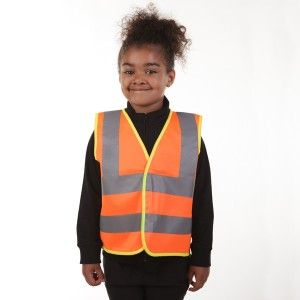 Available in sizes: 0-1yrs and 2-3yrs. Kids Hi Vis Vest with with high quality reflective tape across the shoulders and waist, and with front velcro fastening.   These vests come in Orange, particularly ideal for babies on a farm. Be farm safe, be seen!  These vests are also ideal for school runs/outings or general kids outdoor use where safety & visibility is important.Size             chest (cm)          child's height (cm) 0-1                52 - 60               70 - 82 2-3        ...