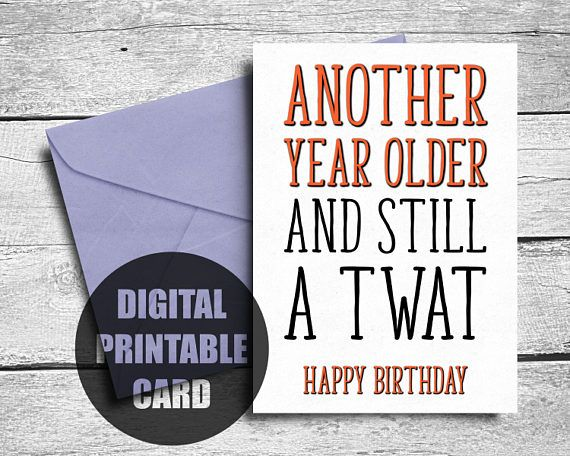 Rude Birthday Card  Profanity Birthday Card  Funny Birthday