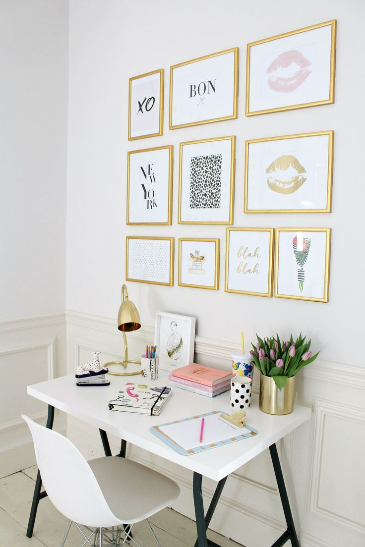 Bedroom wall decorating ideas picture frames - How To Create A Gallery Wall Without Hammer And Nails