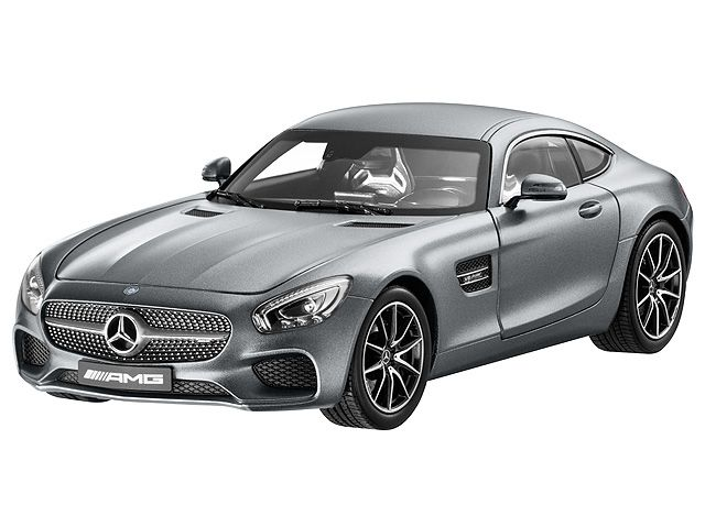 AMG GT S designo selenite grey magno 1:18 - B66960343  The Mercedes-AMG GT S sports car certainly deserves a place in the model car range. This miniature model in diecast zinc is impressively detailed and is finished in an authentic paintwork colour.