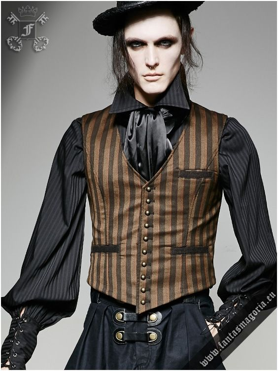 Y-718str Edward - men's waistcoat by Punk Rave | Gothic, Steampunk, Metal, Punk, Lolita, Fetish fashion style e-shop. Punk Rave, RQ-BL, Fantasmagoria clothing brands