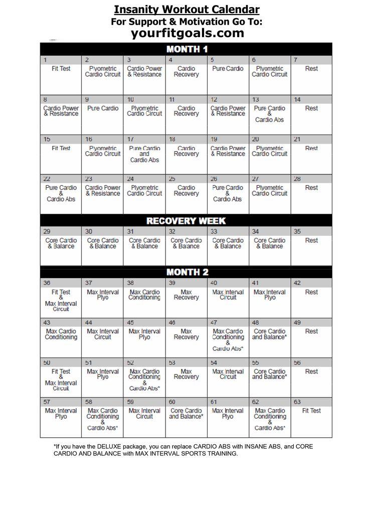 Insanity Calendar Yangah Solen