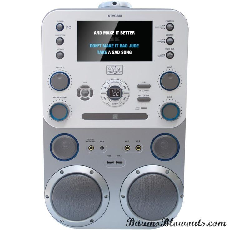 "The Singing Machine Cd+g And Mp3 And Cd And Mp3+g Karaoke Player With Bluetooth & 7"" Monitor"