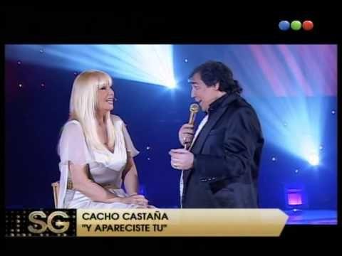 """Cacho Castaña en vivo """"Apareciste tu"""" - Susana Gimenez 2008"""