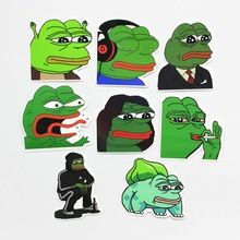 8 Stks/partij Pepe Sad Kikker Grappige Sticker Voor Auto Laptop Bagage Skateboard Motorfiets Snowboard Telefoon Decal Speelgoed Stickers(China (Mainland))