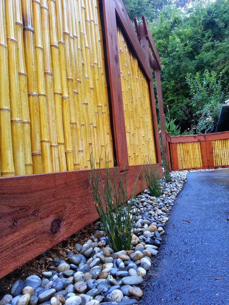 Bamboo Privacy Fence Panels Bamboo Privacy Fence Bamboo