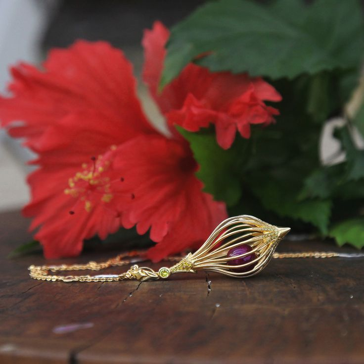The Lantern Necklace for Chinese New Year. By Fairfax & Roberts