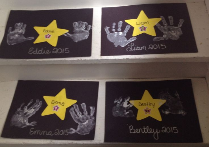 I made each child their own Hollywood Walk of Fame Stars with their handprints on it.  We did this as part of our movie day.