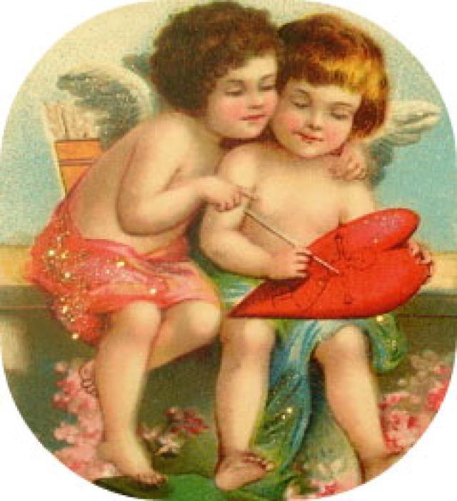 Hundreds of Free Clip Art Images for Valentine's Day: Vintage Valentine Clip Art From Vintage Holiday Crafts