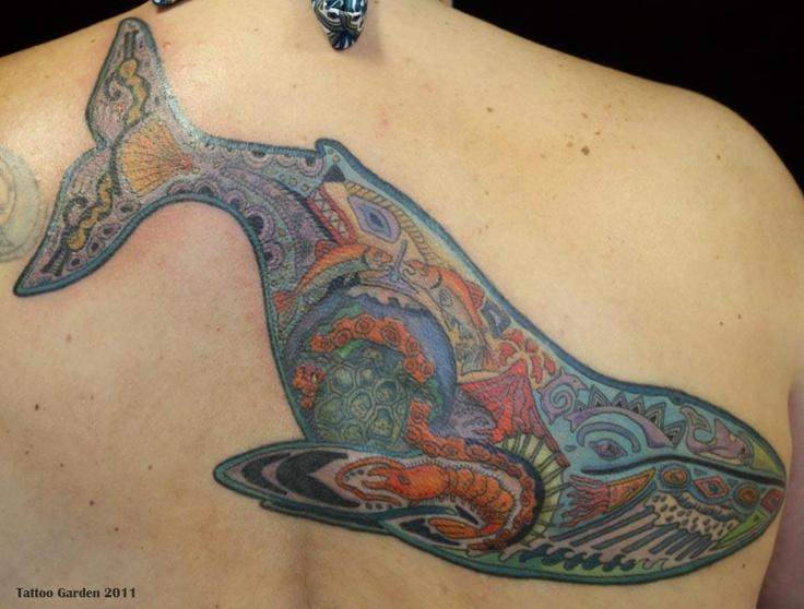 Blue Whale tattoo desi...