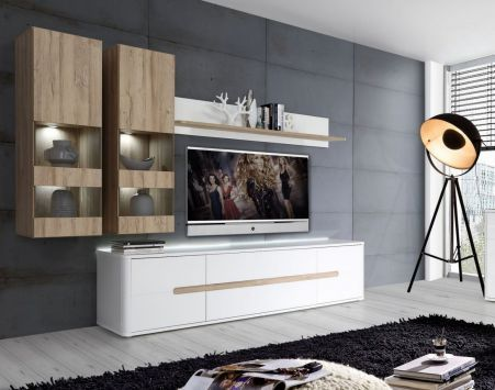 Viac ako 25 najlepších nápadov na Pintereste na tému Hängevitrine - moderner wohnzimmerschrank mit glastüren und led beleuchtung