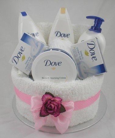 pamper baskets | Dove Pamper Cake | gift baskets