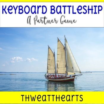 """This battleship game uses keyboard game boards to help students become familiar with letter locations. Students """"hide"""" by coloring different letters or symbols their boats. Once hidden, the partner guesses where they have hidden their boats in order to sink it."""