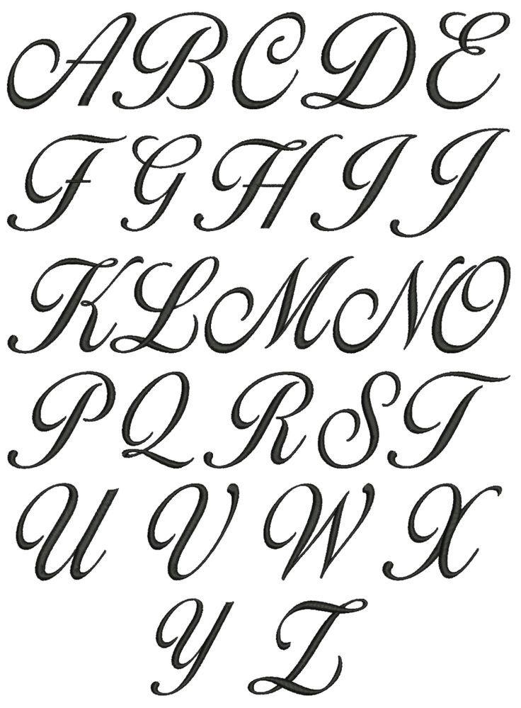 Beautiful Alphabet Letters   Cursive fonts alphabet ...