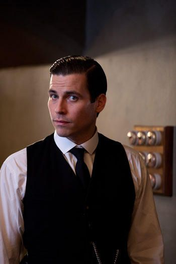 Downton Abbey..Thomas...I know he can be a jerk, but sigh...oooohhh so handsome ;)