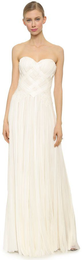 Pin for Later: Les Meilleures Robes de Mariée du Web  J Mendel Robe Bustier (6,246€)
