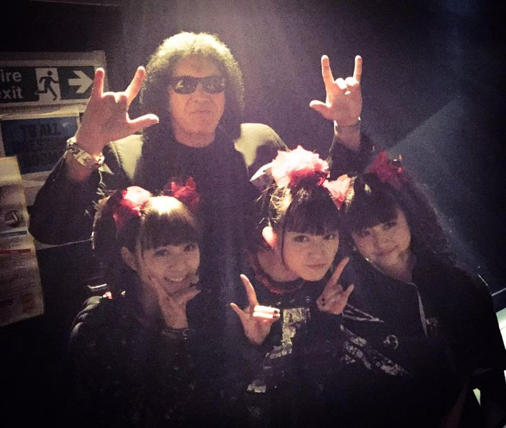 Gene Simmons @genesimmons KISS @KISSOnline BABYMETAL @BABYMETAL_JAPAN at @MetalHammer #GoldenGods
