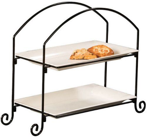 American Metalcraft IS12 Wrought Iron 2-Tier Ironwork Rectangular Plate and Basket Stand, Large, Black American Metalcraft,http://www.amazon.com/dp/B004FNVRZU/ref=cm_sw_r_pi_dp_rge1sb0V7FY8S8XN