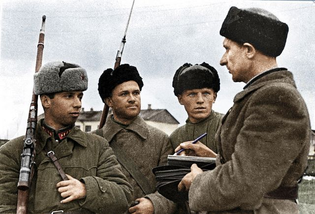Soviet sniper's at the front WWII