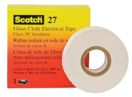 Scotch Tape 27 High Temperature Glass Cloth Tape - 18 mm x 66 ft.  Scotch Tape 27 High Temperature Glass Cloth Tape - 18 mm x 66 ft, 50 rolls per box.  - Harga per roll.  http://tigaem.com/isolasi-electrical-tape/579-scotch-tape-27-18-mm-x-66-ft.html  #scotch #temperatureglassclothtape #isolasi #3M