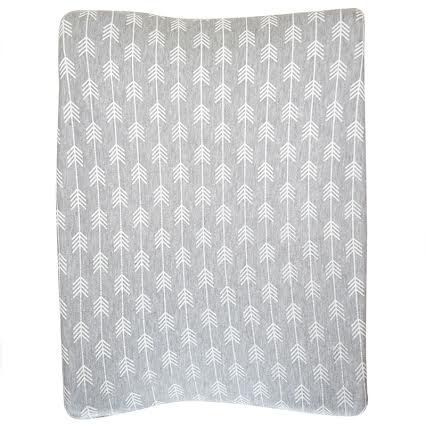 Grey with White Arrows | 100% cotton knit fabric | Fits standard size change mat size of 56 x 46 x 12 cm (length x width x height)