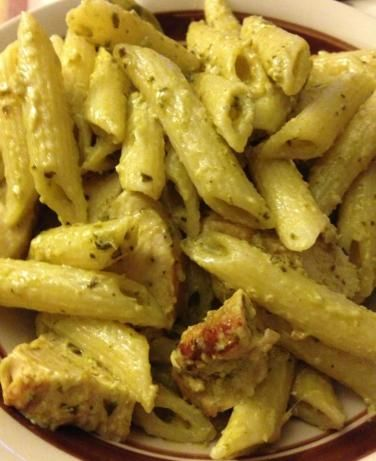 """Pesto Cream Sauce. I made this tonight and it was so good! Maybe a little less salt next time. So quick and easy! Definitely a good repin."""