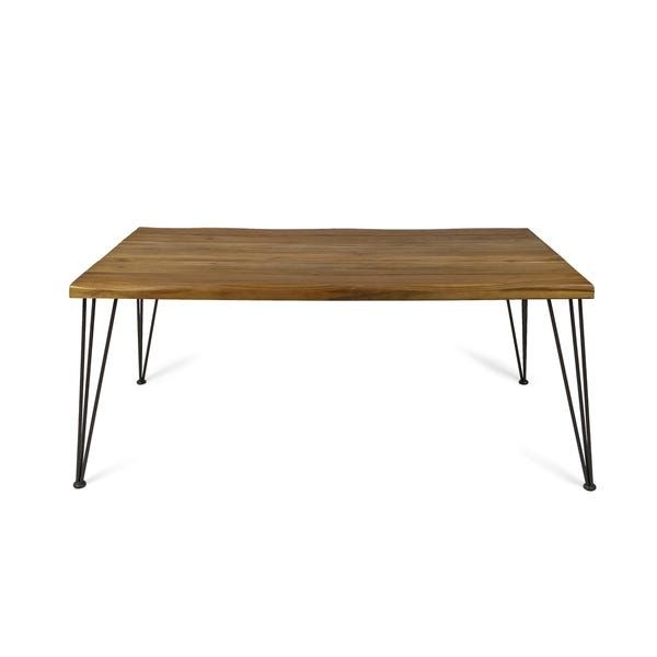 Zion Indoor 72 Inch Rectangular Acacia Wood Dining Table By