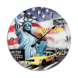 Horloge Murale en Verre Villes du Monde - MisterDiscount