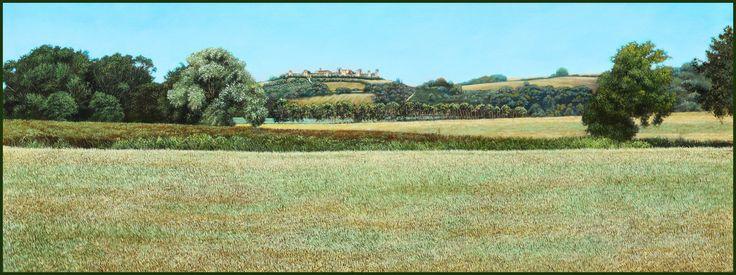 TUSCANY     oil painting on linen,  120 x 45 c. July 2015