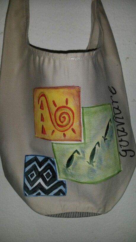 Bolso pintada a mano