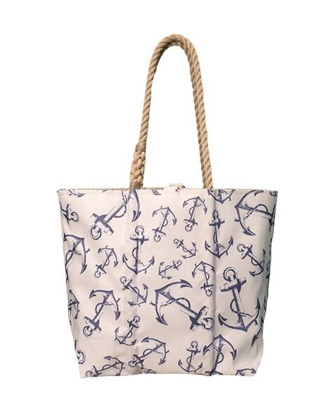 Anchor Print Tote #seabags #madeinmaine  http://www.seabags.com/tote-bags/new-seabags/anchor-print-tote.html