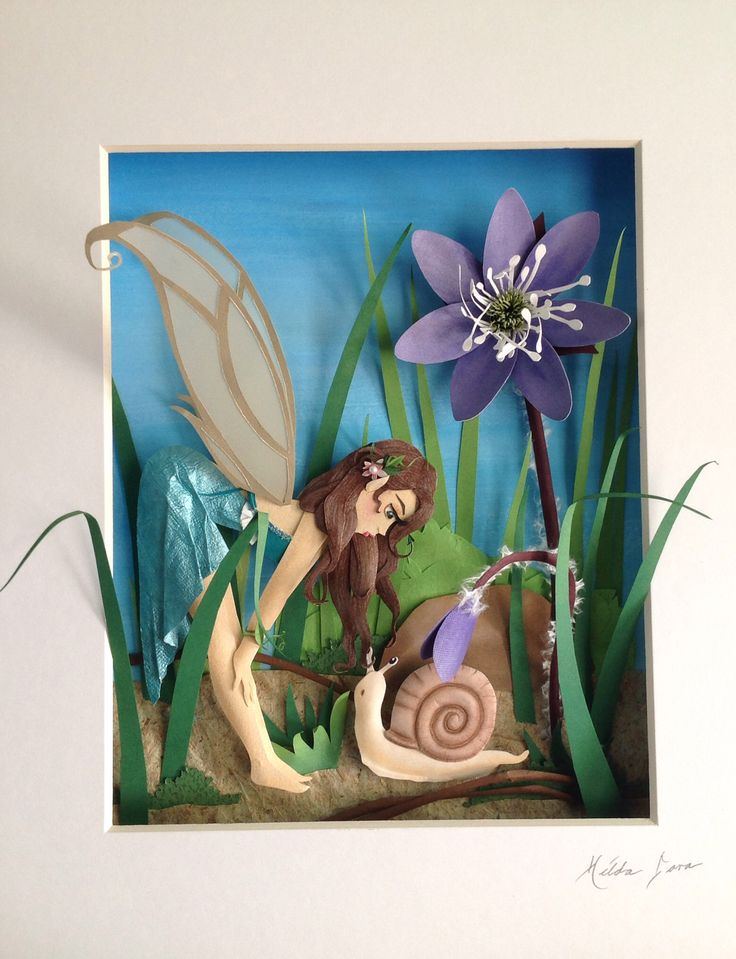 Faerie paper sculpture