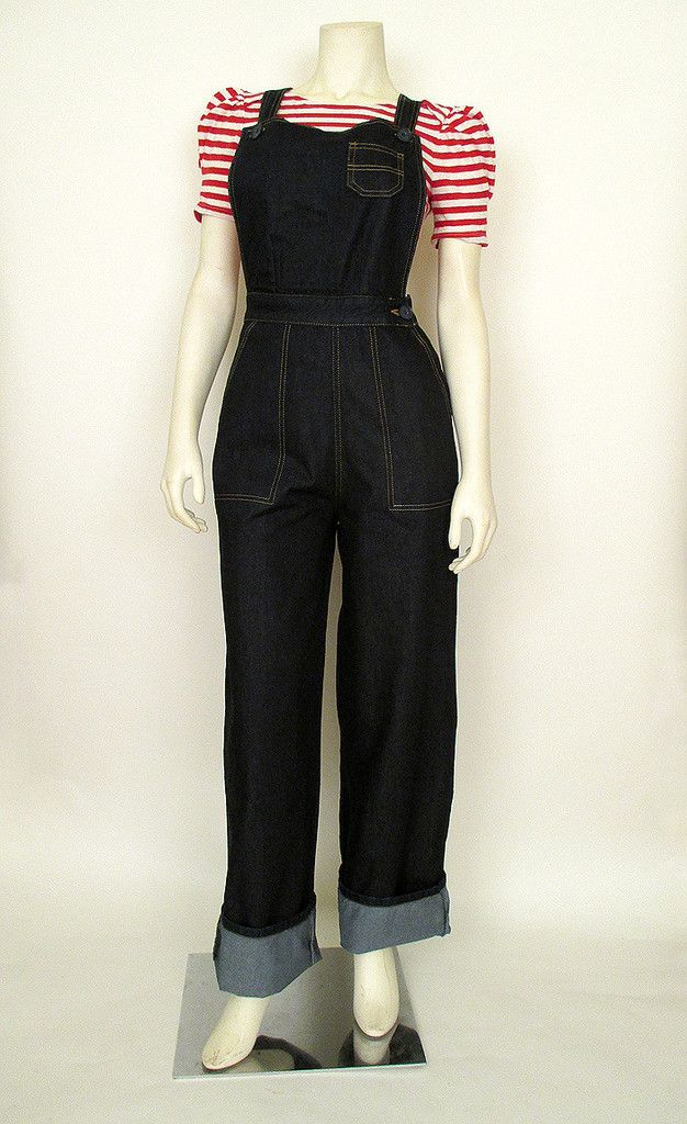 Rosie the Riveter Overalls, need these now!!!