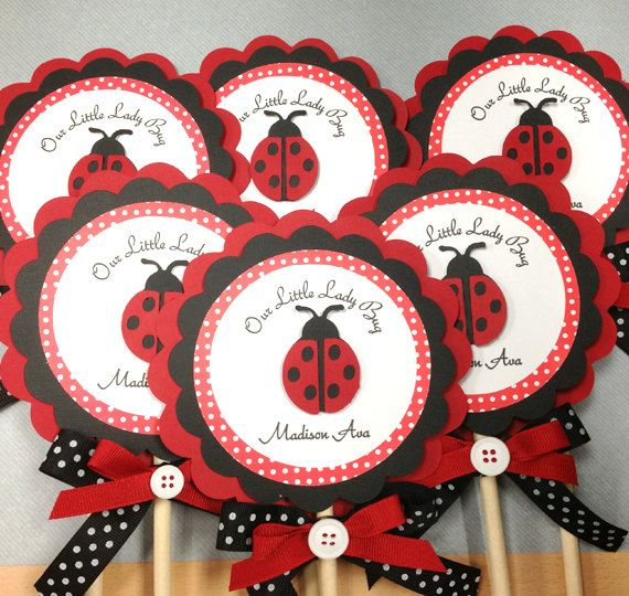 Handmade Red & Black LadyBugs Centerpieces
