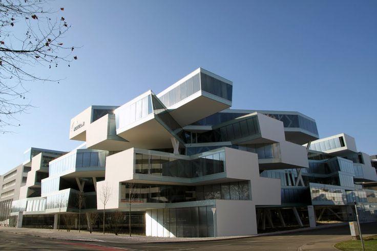 Herzog and de meuron actelion business center for K architecture geneve