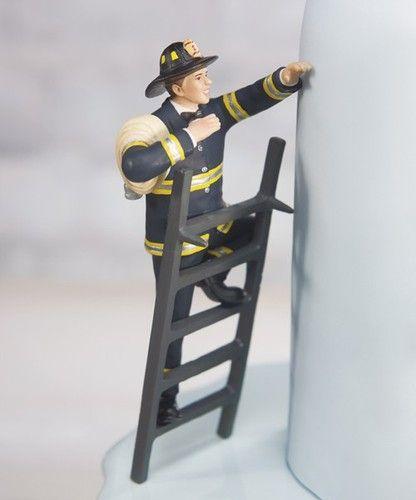 Fireman Groom Cake Topper Wedding Gift Firefighter COLOR CUSTOMIZATIO