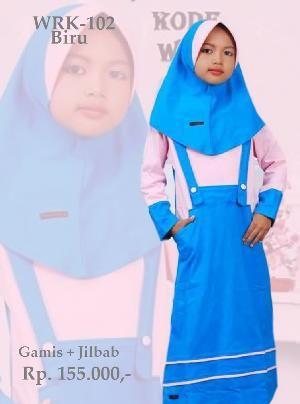 Baju Gamis Anak Perempuan WRK-102 Turkis