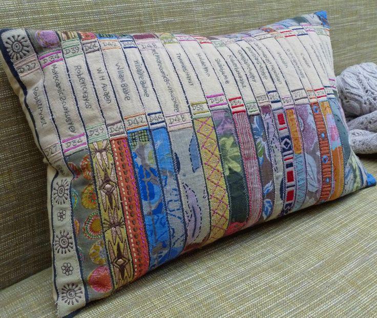 Book pillow - Library Cushion at LUMA Organic Home Luxury