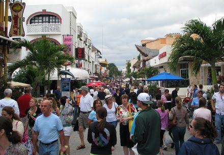 One of the best Cozumel tourist attractions is not on Cozumel island in Mexico. It's across the water via ferry at Playa del Carmen. It's a great shopping and dining district. #cozumel