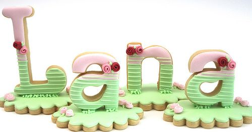 3D name cookies by Miss Biscuit