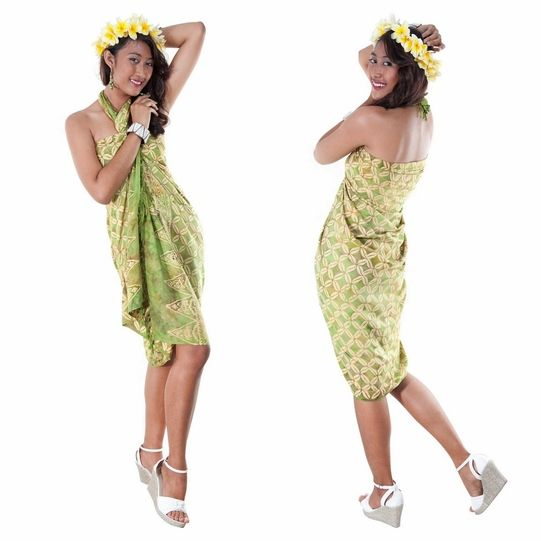 Traditional Batik Design Top Quality Sarong in Light Green